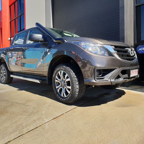 IN-HOUSE FABRICATION - Mazda BT50 2012 onwards 4″ Stainless Steel Snorkel Kit